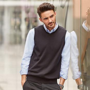 V-Neck Sleeveless Knitted Sweater - MEN'S