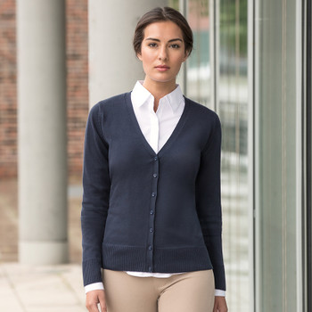 V-Neck Knitted Cardigan - LADIES