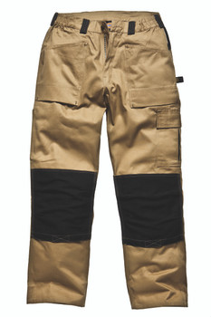 Dickies Duo Tone Grafters Trousers - Khaki/Black