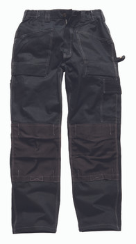 Dickies Duo Tone Grafters Trousers - Black/Black