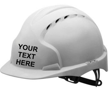 EVO3® Vented Industrial Safety Helmet with 'Your Text'