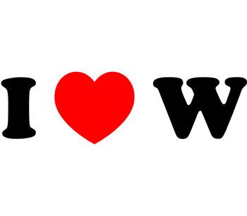 """PRINT """"I heart W"""""""
