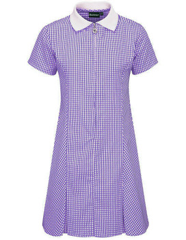 Banner Dark Purple Gingham Summer Dress