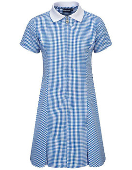 Banner Blue Gingham Summer Dress