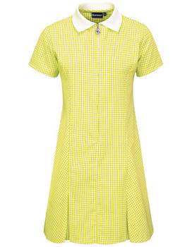 Banner Yellow Gingham Summer Dress