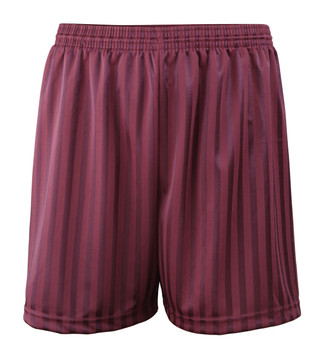 Shadow Stripe PE Shorts - Maroon 30-42""