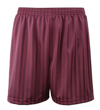 "Shadow Stripe PE Shorts - Maroon 30-42"""