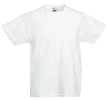 Fruit of the Loom Kids White T-Shirt