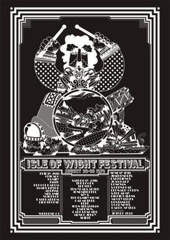Isle of Wight Festival 1970 T-Shirt - Adult 'Black'