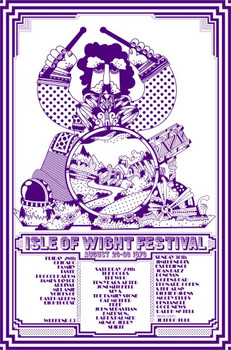 Isle of Wight Festival 1970 T-Shirt - Adult 'Sky Blue'