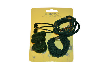 School Set Hair Ponios - Bottle Green