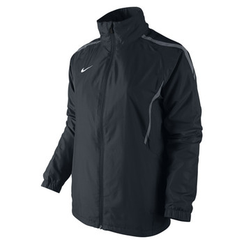 Nike WOMENS Woven Warm-Up Jacket SIZE M (10/12) - Black/Lt Graphite/White