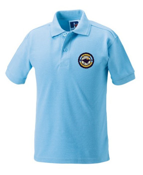 Queensgate Primary Polo - Sky