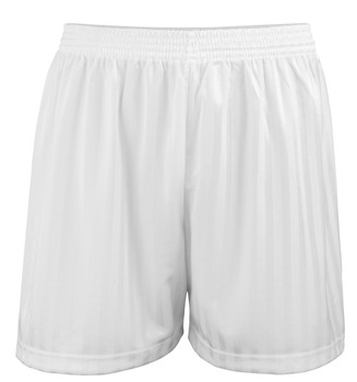 "Shadow Stripe PE Shorts - White 30-42"""