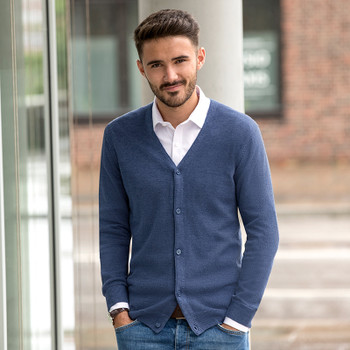 V-Neck Knitted Cardigan - MEN'S