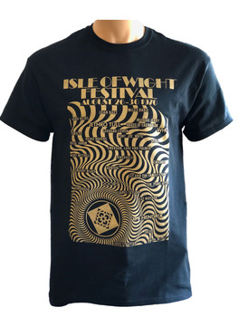 IW Festival 1970 T-Shirt - Adult 'Black - 'GOLD' edition