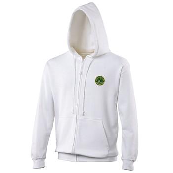 Ryde Lawn Zip Hoodie - ADULT White
