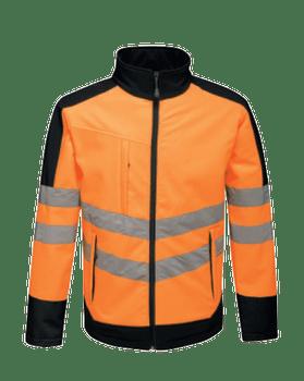 Hi-Vis Pro Contrast Soft Shell Jacket