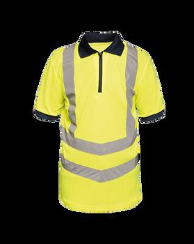 Hi-Vis Pro Contrast Wicking Piqué Polo Shirt