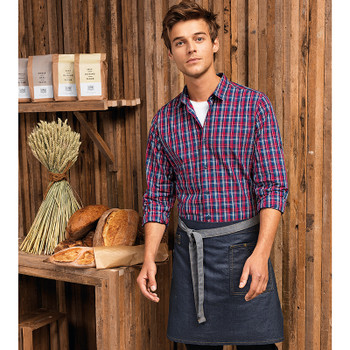 Division Waxed-Look Denim Waist Apron