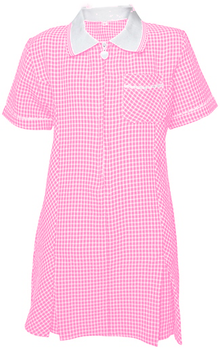 Pink Gingham Summer Dress