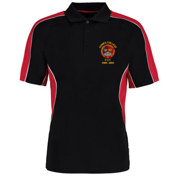 Cowes College CCF 50 Years Polo Shirt - Black/Red
