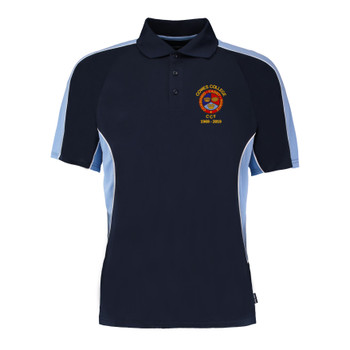 Cowes College CCF 50 Years Polo Shirt - Navy/Light Blue