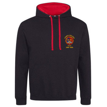 Cowes College CCF 50 Years Hoodie - Black/Red
