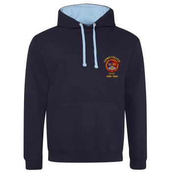 Cowes College CCF 50 Years Hoodie - Navy/Sky