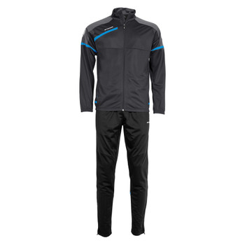 Prestige Polyester Suit - Dark Grey/Blue