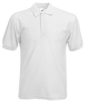 Fruit of the Loom Adult Polo White
