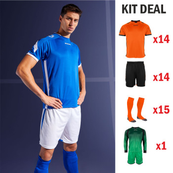 Drive S/Sleeve Football Kit - ADULT - 14 x Outfield, 1 x Keeper