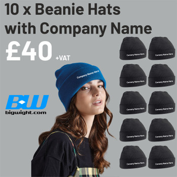 Special Offer Original Cuffed Beanie Hat x 10