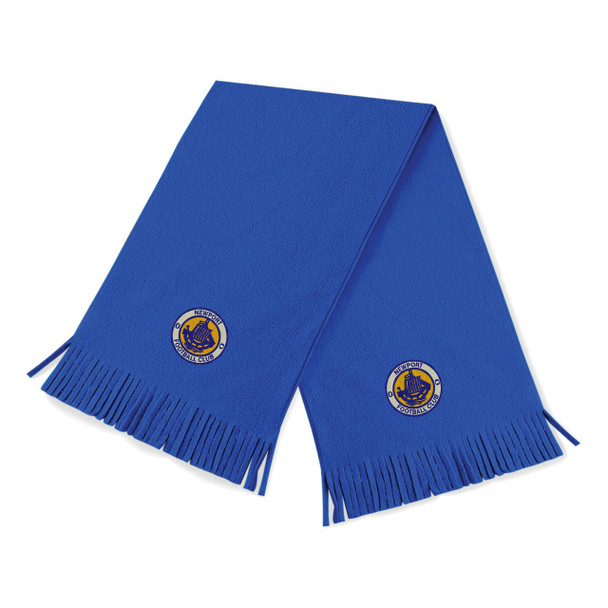 Newport IW FC Fleece Scarf - ROYAL