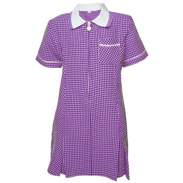 Purple Gingham Summer Dress