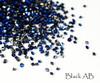 Black AB Glass Micro Mini Pixie Crystals (Bag of 1440PCS) - 1.2mm