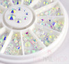 NEW Aurora Rainbow AB Crystal Flatback Rhinestone Wheel - 240PCS (1mm-5mm)