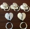 Love Heart Door Knocker Ring Metal Nail Art Charms (Bag of 5) - Gold or Silver