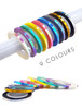 9PCS Iridescent Laser Nail Art Angel Striping Tape (3 Different Sizes)