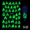 Glow-In-The-Dark Nail Stickers (Single Flames)