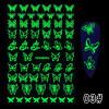 Glow-In-The-Dark Nail Stickers (Butterflies)