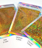 TNS DOUBLE OH HEAVEN Gold Holographic Laser Glitter for Nail Art (15gm Bag) - Fine, Medium, or Chunky