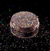 TNS HOLO THERE Silver Holographic Laser Glitter for Nail Art - Chunky in a 10ml Pot