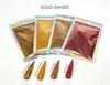 Gold Glitter Comparison Colours