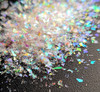 ICE QUEEN White Mylar Flakes for Nail Art (15gm Bag) - Rainbow Reflections