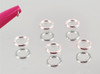 5PCS X Sterling Silver 925 Jump Hoop Round Nail Rings for Nail Piercings (4mm)