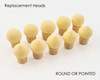 Replacement Sponge Heads for Puff Aero Ombre Pen (Round or Pointed)