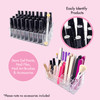 Empty 36 Compartment Clear Acrylic Nail Accessories Storage Holder