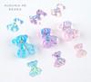 3D Acrylic Resin Aurora Teddy Bears for Nail Art (Single)