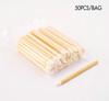 50PCS X Eco Friendly Bamboo Lip Gloss Applicators/Wands (Packaging)